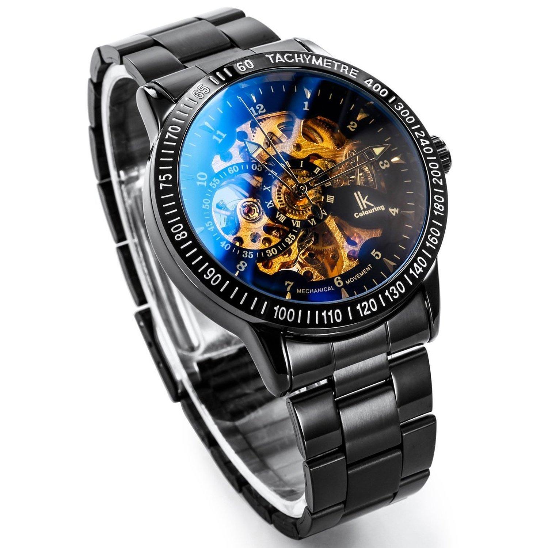 Alienwork-IK-mechanische-Automatik-Armbanduhr-mit-Edelstahlarmband-4
