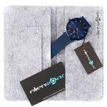 Alienwork-IK-Colouring-98469NBG-blaue-Herrenuhr-mit-grauer-Tasche