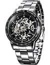 Alienwork-IK-automatische-Armbanduhr-mit-Skelett-Design-in-Silber