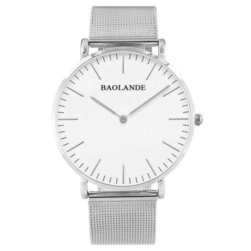Alienwork-Unisex-Armbanduhr-U04916G-01-leichte-und-flache-Uhr-mit-Metall-Netzarmband