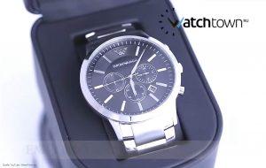 Armani-AR2460-Chronograph-fuer-Herren-mit-XL-Uhrengehaeuse