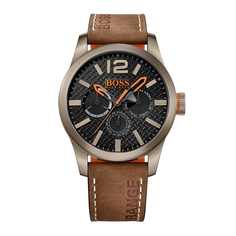 BOSS-Orangen-Analoguhr-Paris-sportliche-Armbanduhr-im-Industrial-Design-1