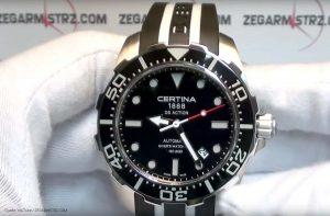 Certina-C013.407.17.051.01-Sportuhr-mit-Schwarz-Weiss-Design
