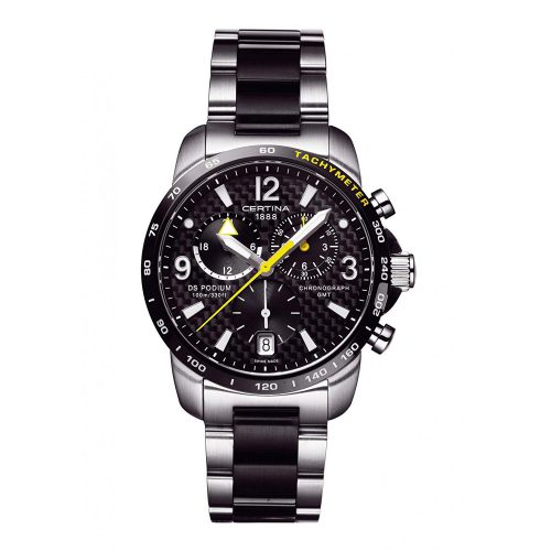 Certina-DS-Podium-GMT-Chronograph-C001.639.22.207.01-sportliche-Maenneruhr-mit-Carbon-Design