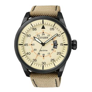 Citizen-Eco-Drive-Herrenuhr-AW1365-19P-analoge-Quarzuhr-mit-Textilarmband