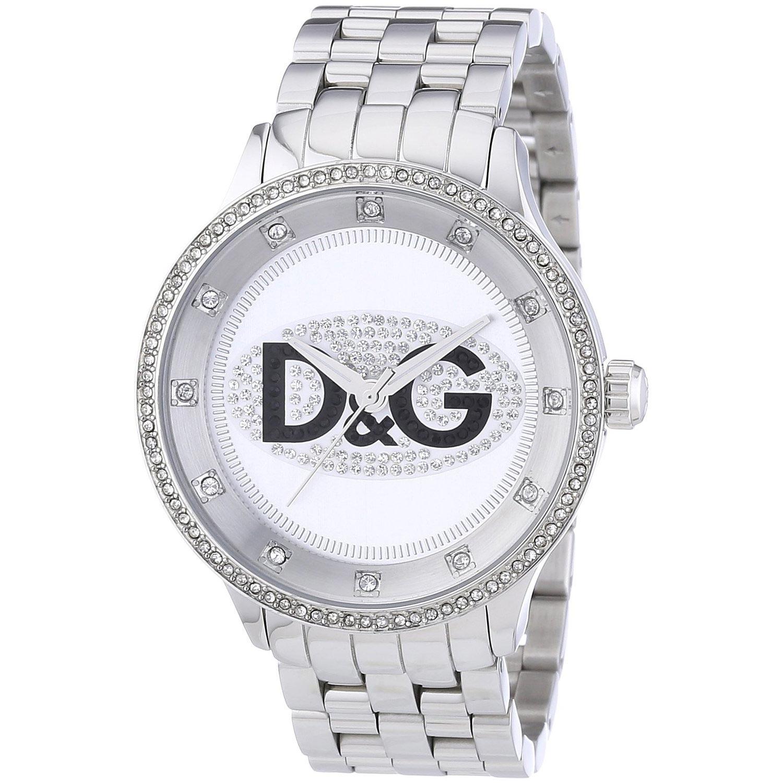 d g dolce gabbana silberne armbanduhr dw0131 mit edelstahlarmband herrenuhren armbanduhren. Black Bedroom Furniture Sets. Home Design Ideas