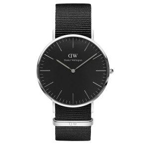 Daniel-Wellington-Classic-Black-Cornwall-DW00100151-schwarze-Analoguhr-mit-Nylonband