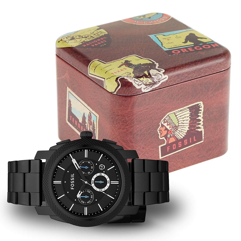 fossil herrenuhr fs4552 machine chronograph in matt schwarz. Black Bedroom Furniture Sets. Home Design Ideas