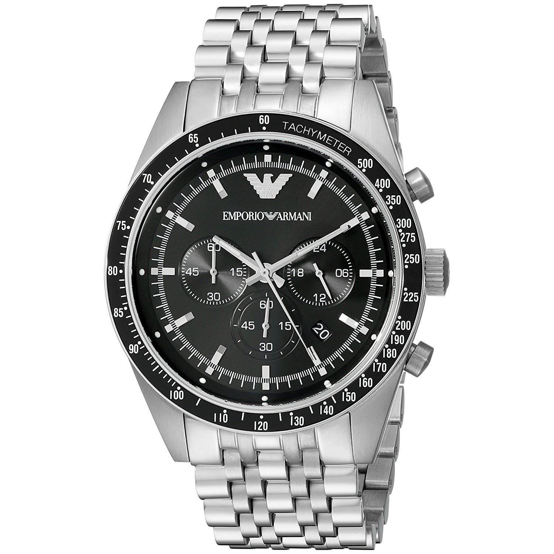 best website los angeles info for Emporio Armani AR5988 Chronograph, Tachymeter & Gliederarmband