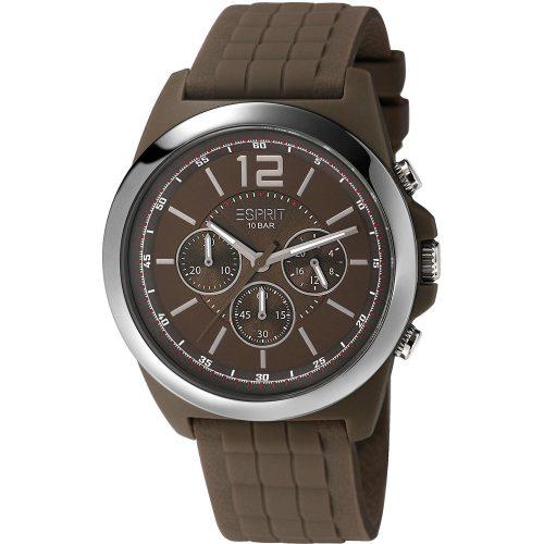 Esprit-Hayward-Herren-Chronograph-Armbanduhr-mit-Kautschukarmband-braun-1