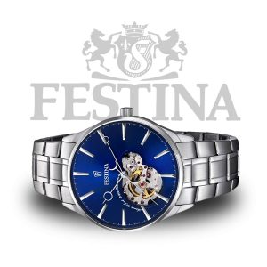 Festina-Automatik-Herrenuhr-F6847-3-Automatikuhr-Edelstahl
