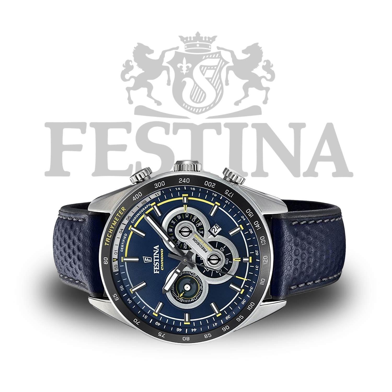 festina precision chrono f20202 2 blaue herrenuhr sportliches design. Black Bedroom Furniture Sets. Home Design Ideas