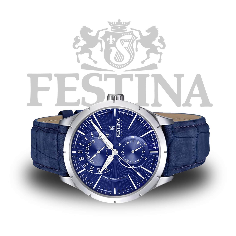 festina herrenuhr f16573 7 blaue armbanduhr mit. Black Bedroom Furniture Sets. Home Design Ideas