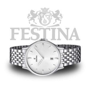 Festina-F16744-2-Herrenuhr-Dresswatch-Silber
