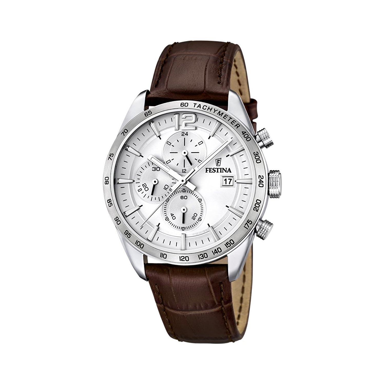 F167601 Herren Lederarmband Mit Armbanduhr Festina Chronograph kZXwiOPuT