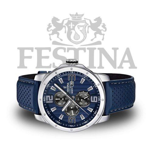 Festina-Herrenuhr-F16585-3-Blau-Silber-mit-Datumsanzeige