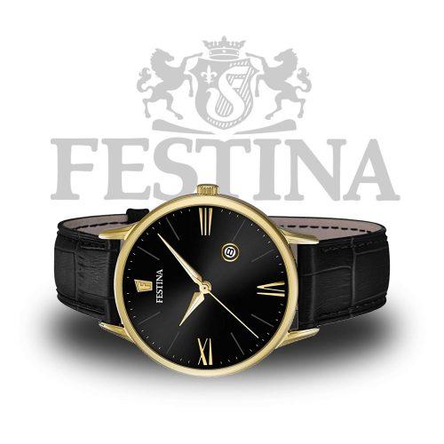Festina-Herrenuhr-F16825-4-gold-schwarz