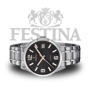 Festina-Herrenuhr-F16981-3-Quarzuhr-Edelstahl