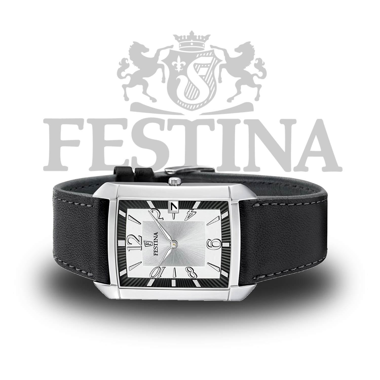 festina herrenuhr f6748 1 eckige analoguhr mit klassischem. Black Bedroom Furniture Sets. Home Design Ideas