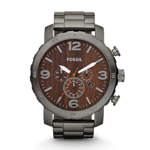 Fossil-Herren-Armbanduhr-Nate-JR1355-Chronograph-mit-Holzoptik-1