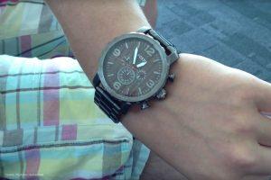 Fossil-XL-Uhr-JR1355-mit-Ziffernblatt-in-Holz-Optik