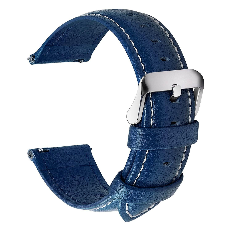 Fullmosa-Uhren-Lederarmband-in-Blau-22mm-mit-massiver-Dornschliesse-aus-Edelstahl