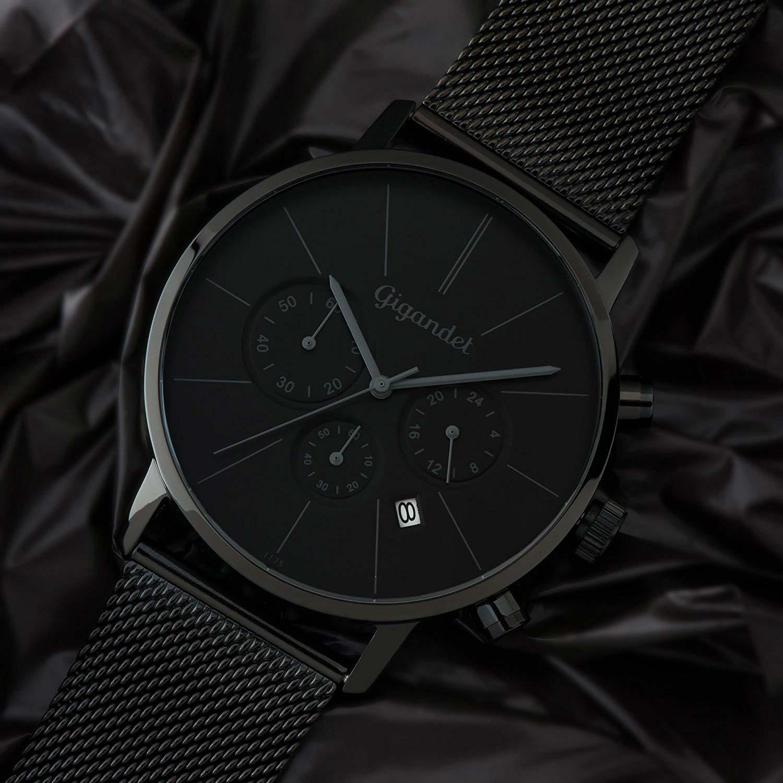 gigandet g32 008 minimalism chronograph mit schwarzem. Black Bedroom Furniture Sets. Home Design Ideas