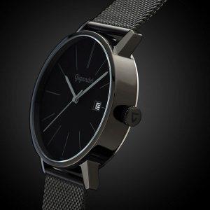 Gigandet-G42-007-Minimalism-schwarze-Herrenuhr-mit-316L-Edelstahl