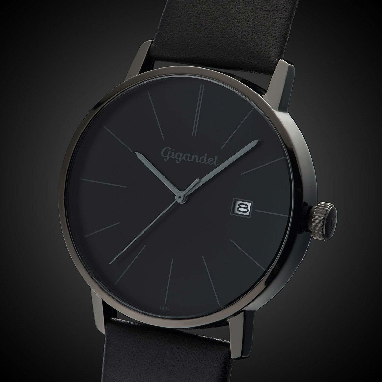 Gigandet minimalism g42 004 schwarze herrenuhr for Minimalist werden