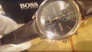 Hugo-Boss 1512921-Herren-Chronograph-Gold-Weiss-Braun