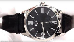 Hugo-Boss-1513022-Herrenuhr-in-Schwarz-und-Silber