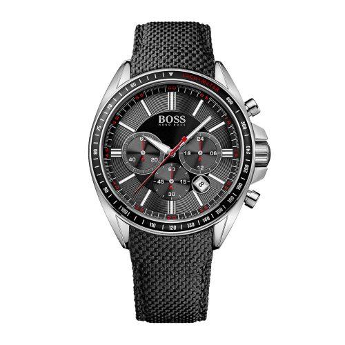Hugo-Boss-1513087-Sport-Driver-Chronograph-mit-schwarzem-Nylonarmband