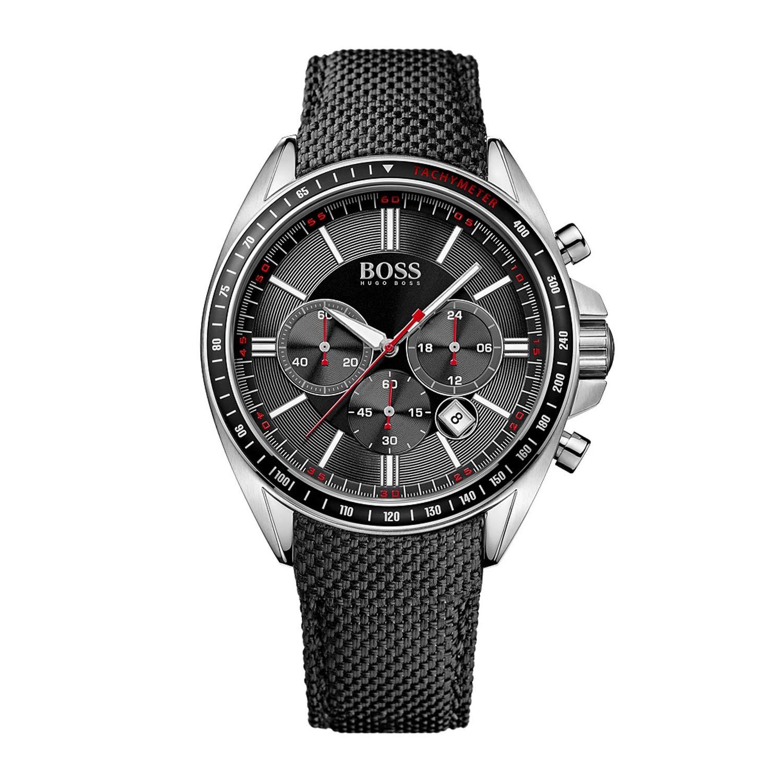 hugo boss 1513087 sport driver chronograph mit nylonarmband. Black Bedroom Furniture Sets. Home Design Ideas