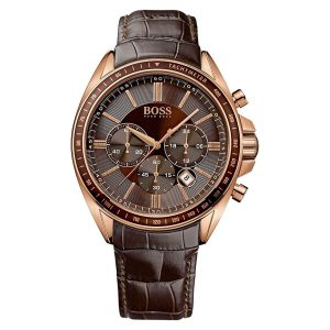 Hugo-Boss-1513093-Driver-Chrono-Herrenuhr-in-Braun-und-Rosegold