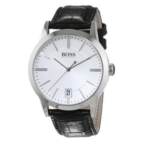 Hugo-Boss-1513130-klassische-Herrenuhr-Business-Uhr-mit-Lederarmband