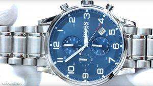 Hugo-Boss-1513183-Herren-Armbanduhr-mit-blauen-Ziffernblatt