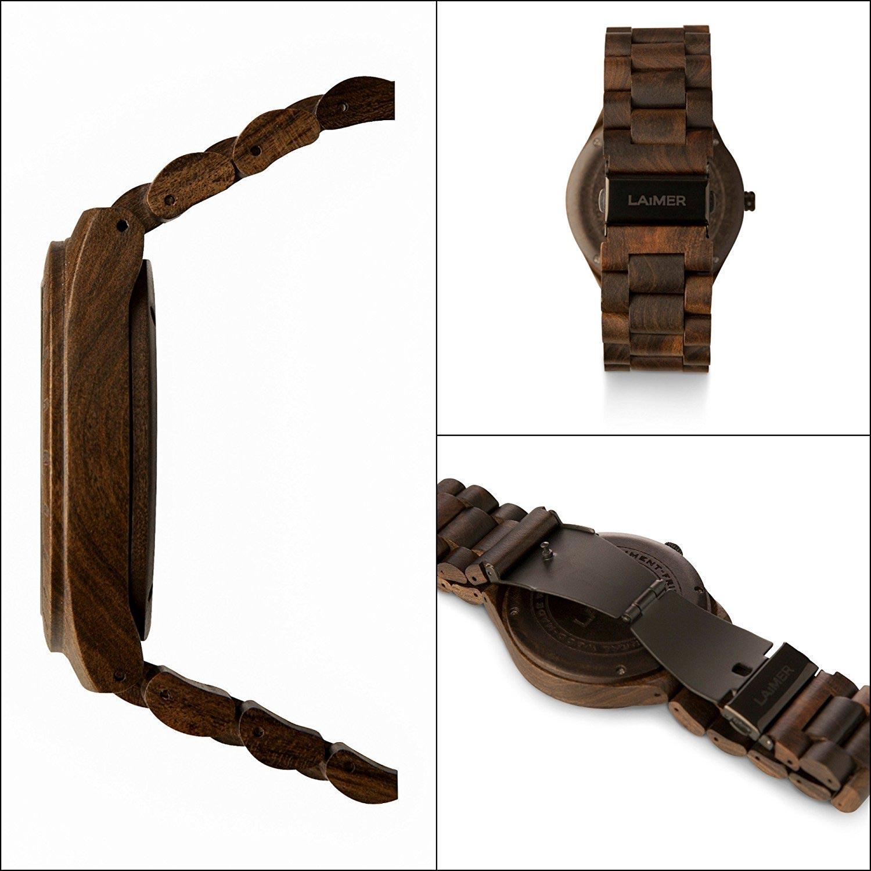 laimer herrenuhr aus holz armbanduhr als naturprodukt. Black Bedroom Furniture Sets. Home Design Ideas