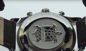 Maskuliner-Certina-Chronograph-mit-schwarzem-Lederarmband-und-316L-Edelstahl