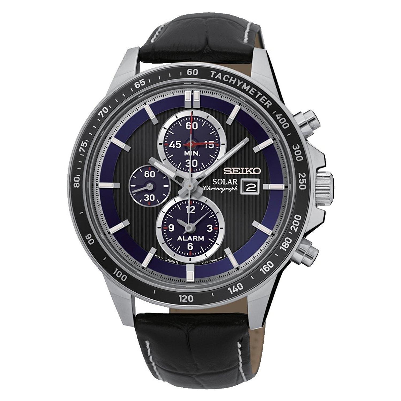 Seiko-Herren-Chronograph-SSC437P1-elegante-Business-Uhr-mit-sportlichen-Features-und-Lederarmband