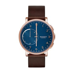 Skagen-Connected-Hybrid-Smartwatch-mit-Analoguhr-und-Lederarmband-1