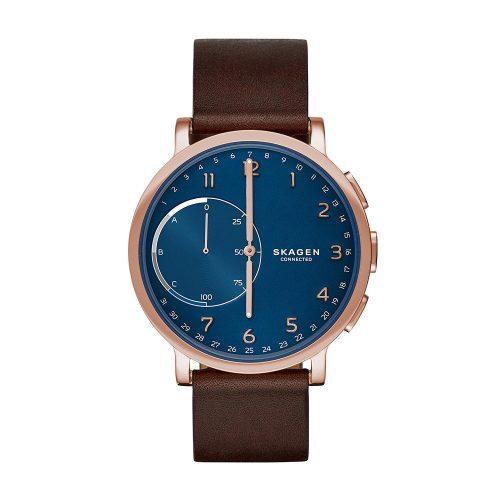 Skagen-Connected-Hybrid-Smartwatch-mit-Analoguhr-und-Lederarmband-1