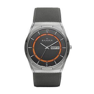 Skagen-SKW6007-Titanium-Herrenuhr-in-Silber-Grau-mit-Mesharmband