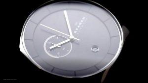 Skagen-SKW6070-minimalistische-Herren-Chronograph-in-Schwarz-Silber