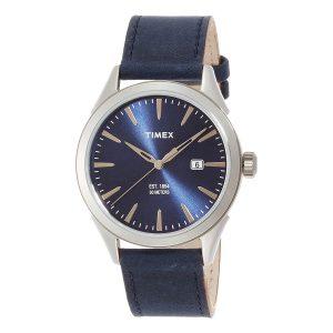 Timex-Chesapeake-TW2P77400-Herren-Armbanduhr-mit-blauem-Lederband