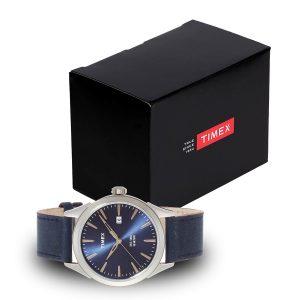 Timex-Chesapeake-TW2P77400-Herrenuhr-mit-blauem-Lederarmband