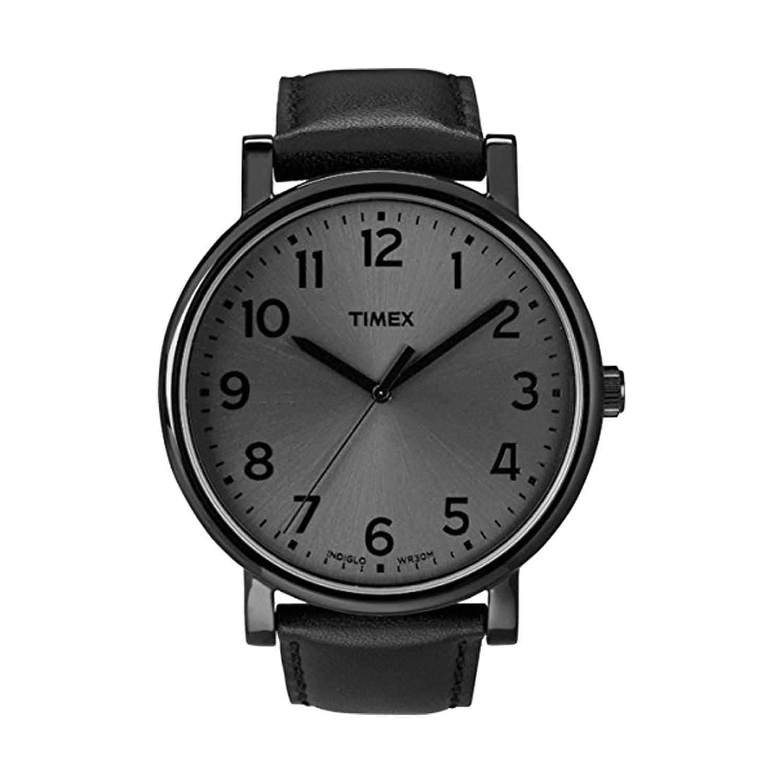 Timex-Easy-Reader-T2N346-schwarze-Herrenuhr-Dresswatch-mit-Lederband
