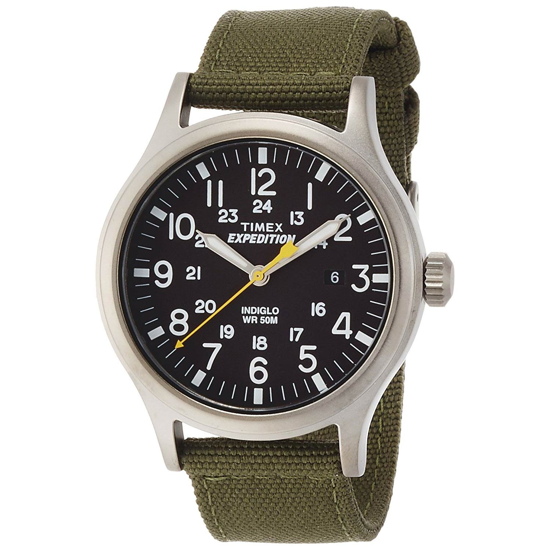 Timex-Exepedition-T49961-Analog-Quarzuhr-Herren-mit-Textilarmband