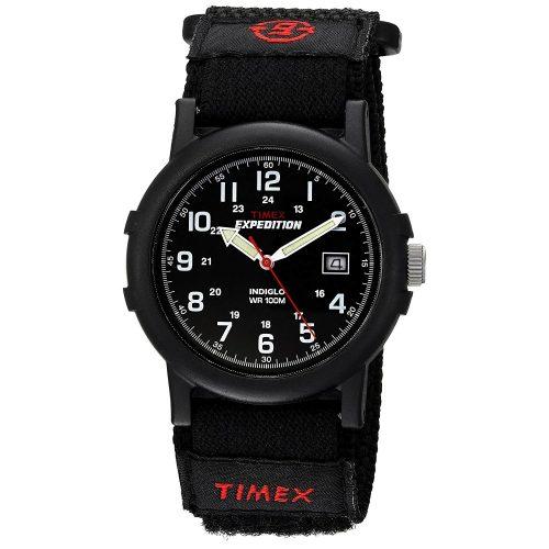 Timex-Expedition-Camper-T40011-schwarze-Outdoor-Uhr-Herren-Textilband-mit-Klettverschluss