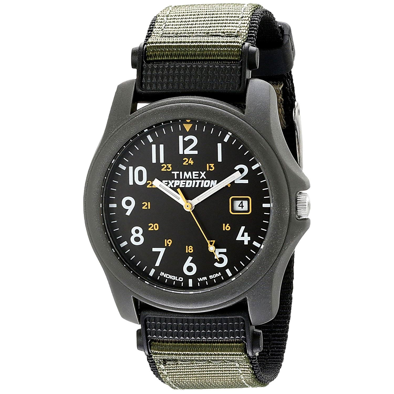 Timex-Expedition-T42571-leichte-Herrenuhr-mit-robustem-Nylon-Textil-Armband