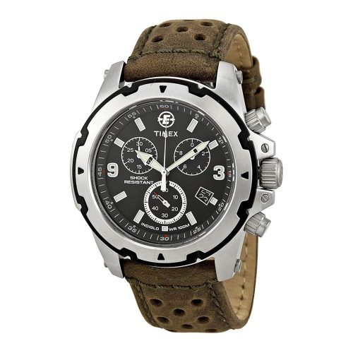 Timex-Expedition-T49626-Herren-Chronograph-Rugged-Field-mit-gelochtem-Lederarmband